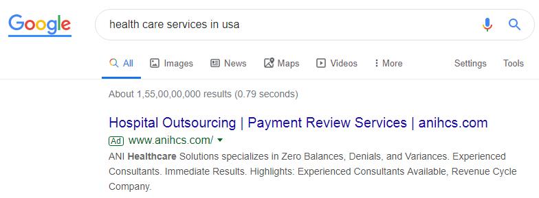 PPC service for Healthcare